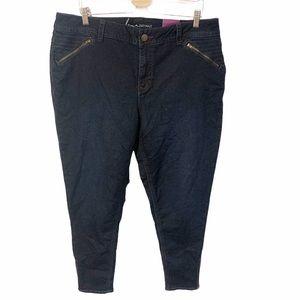Lane Bryant Plus Size Dark Blue Skinny Jeans NWT